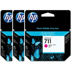 Pack 3 cartuchos tinta HP 711 magenta 29 ml