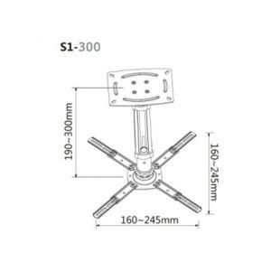 Soporte techo Proyector S1-300